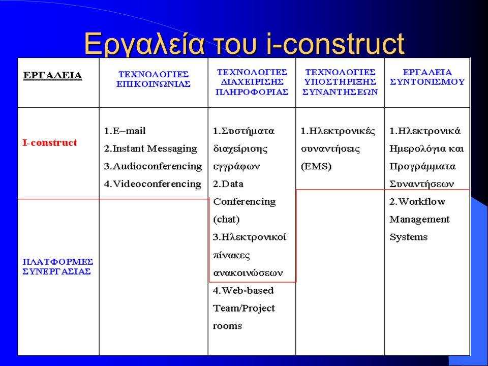 Εργαλεία του i-construct