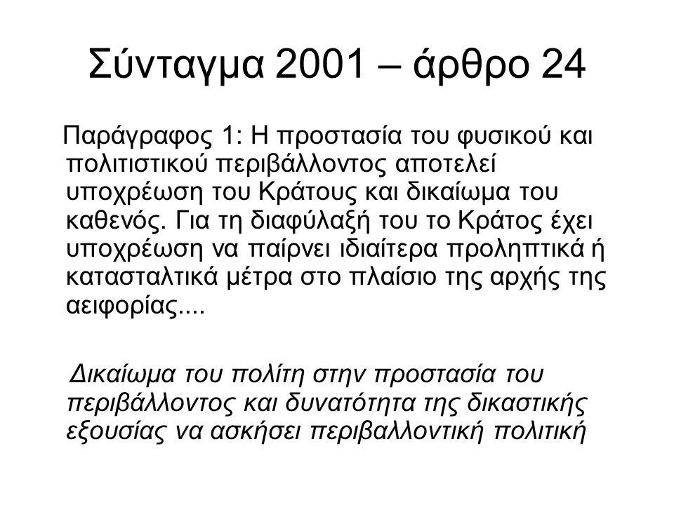 Σύνταγμα 2001 – άρθρο 24