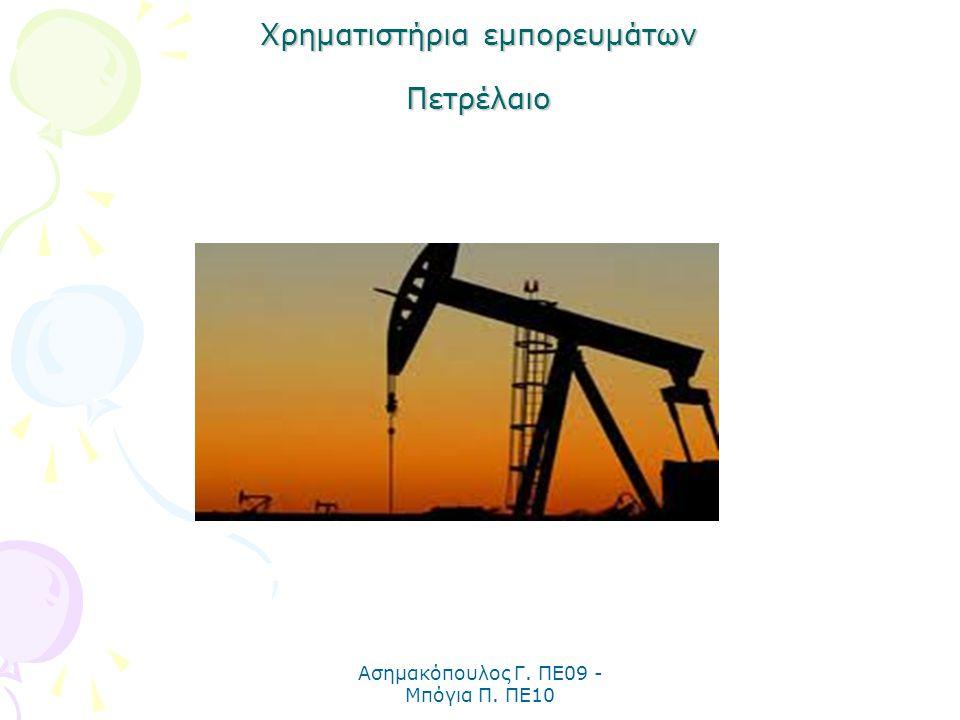 Χρηματιστήρια εμπορευμάτων Πετρέλαιο