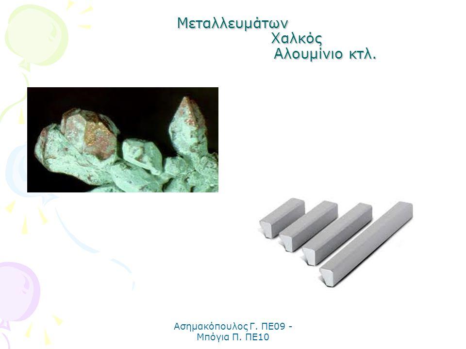 Μεταλλευμάτων Χαλκός Αλουμίνιο κτλ.