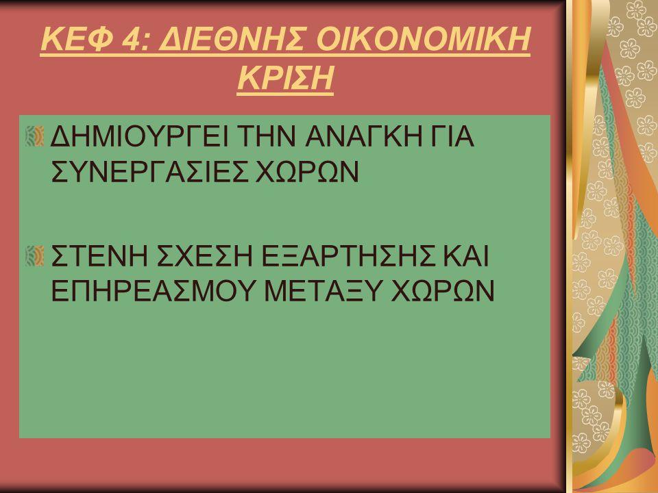 ΚΕΦ 4: ΔΙΕΘΝΗΣ ΟΙΚΟΝΟΜΙΚΗ ΚΡΙΣΗ
