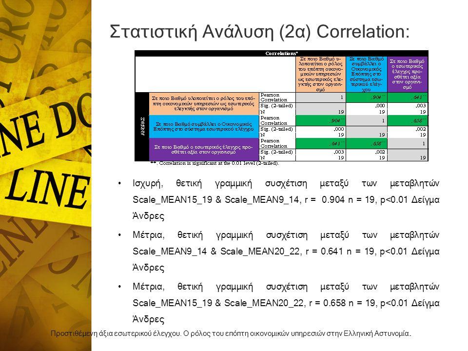 Στατιστική Ανάλυση (2α) Correlation: