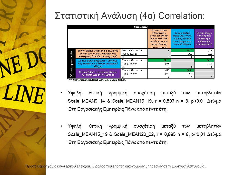 Στατιστική Ανάλυση (4α) Correlation: