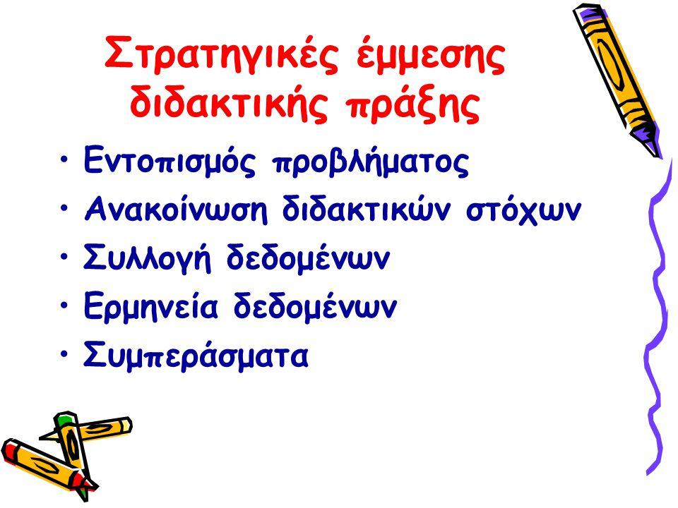 Στρατηγικές έμμεσης διδακτικής πράξης