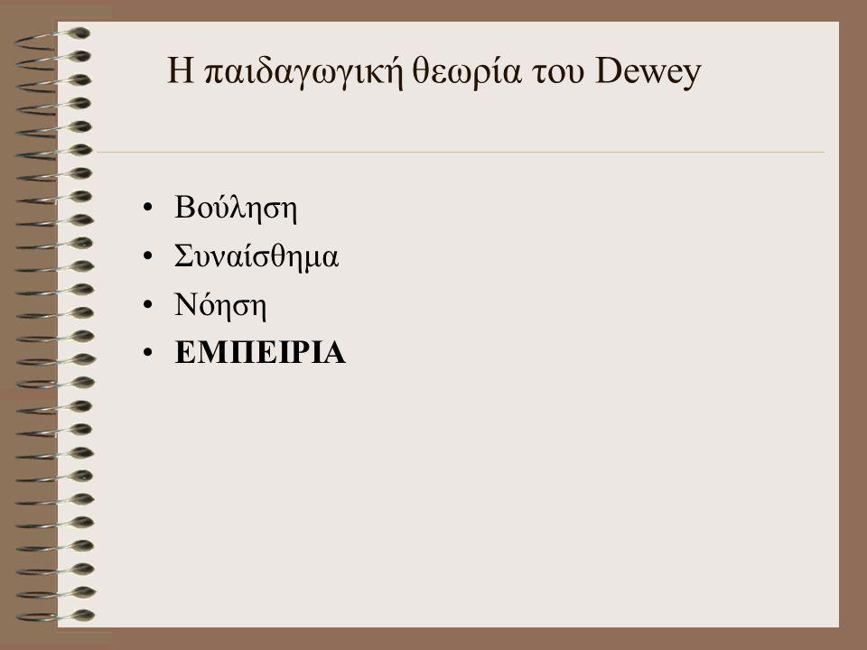 Η παιδαγωγική θεωρία του Dewey