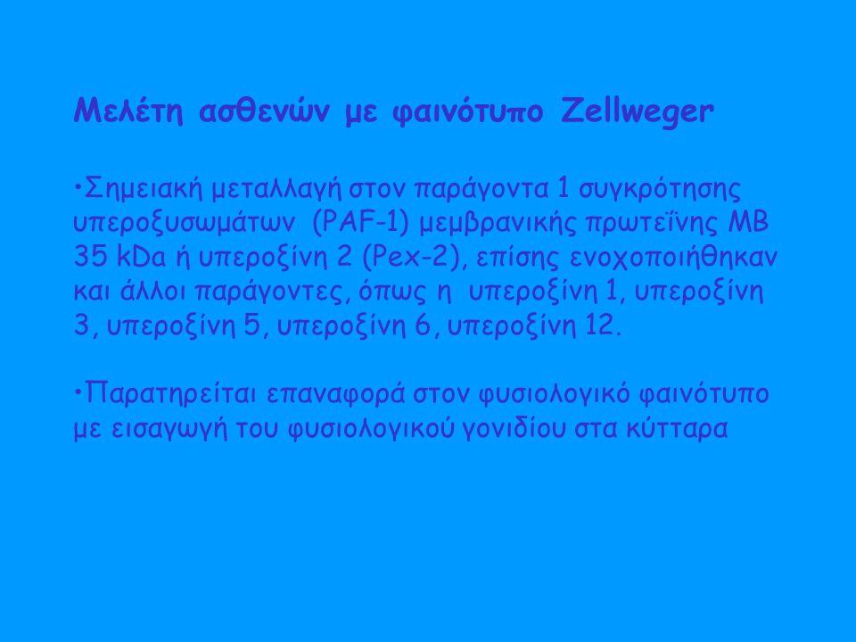 Μελέτη ασθενών με φαινότυπο Zellweger