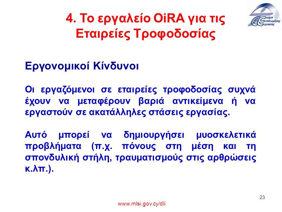 4. Το εργαλείο OiRA για τις Εταιρείες Τροφοδοσίας