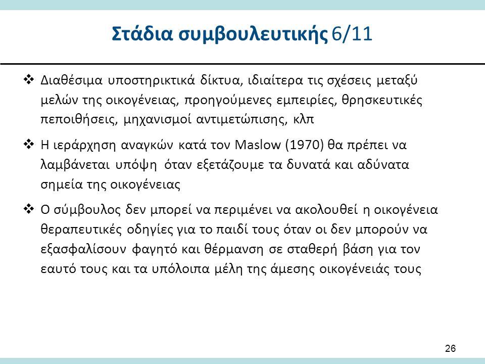 Στάδια συμβουλευτικής 6/11