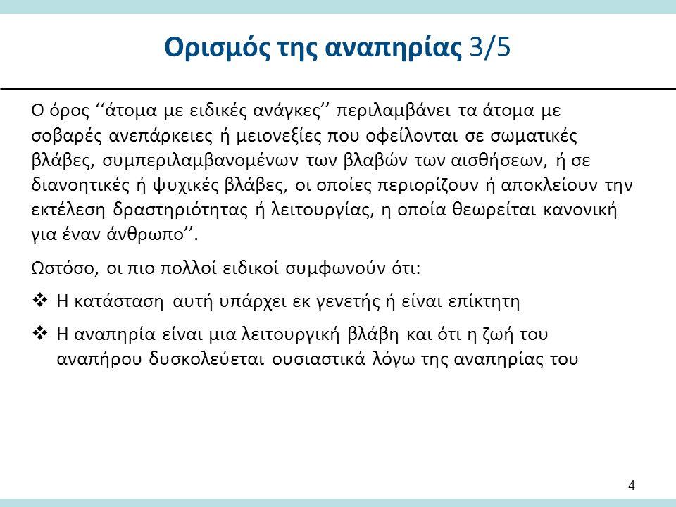 Ορισμός της αναπηρίας 3/5