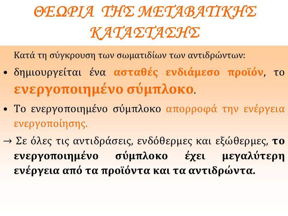 ΘΕΩΡΙΑ ΤΗΣ ΜΕΤΑΒΑΤΙΚΗΣ ΚΑΤΑΣΤΑΣΗΣ