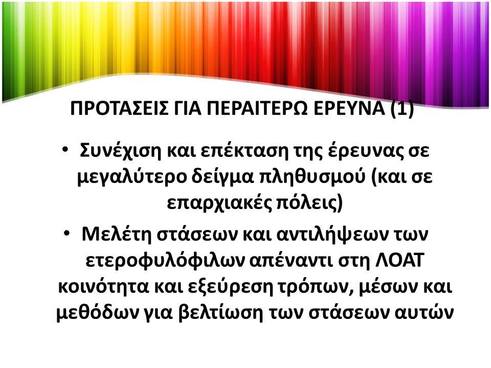 ΠΡΟΤΑΣΕΙΣ ΓΙΑ ΠΕΡΑΙΤΕΡΩ ΕΡΕΥΝΑ (1)