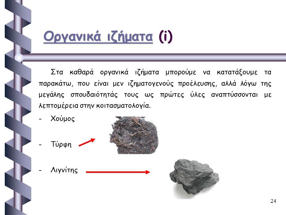 Οργανικά ιζήματα (i)