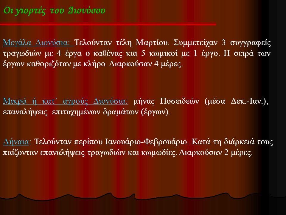 Οι γιορτές του Διονύσου