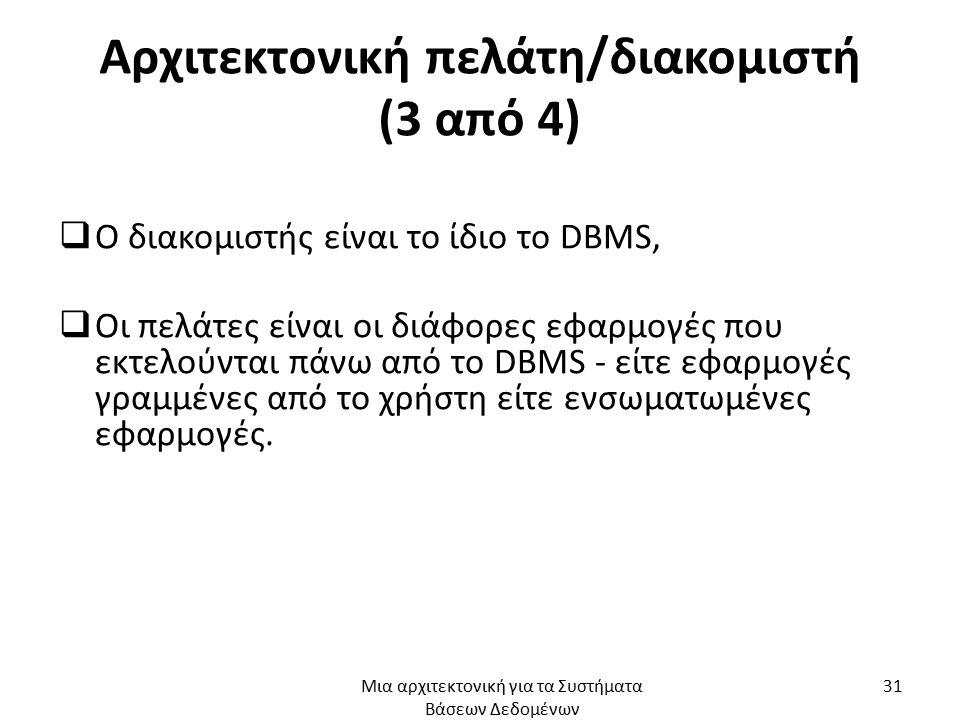 Αρχιτεκτονική πελάτη/διακομιστή (3 από 4)