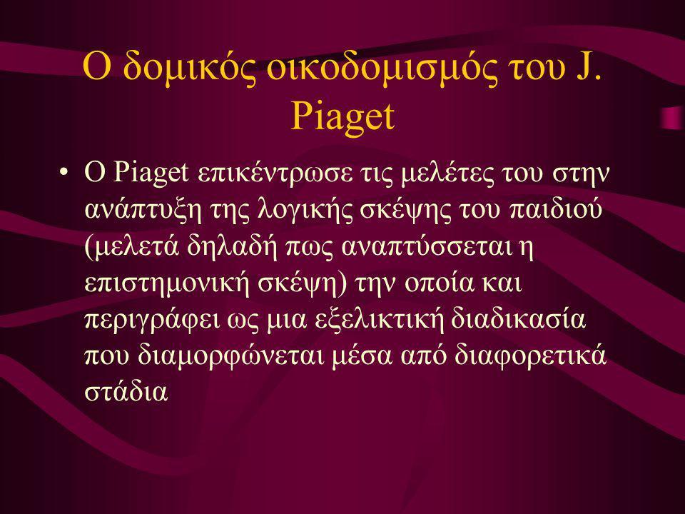 Ο δομικός οικοδομισμός του J. Piaget