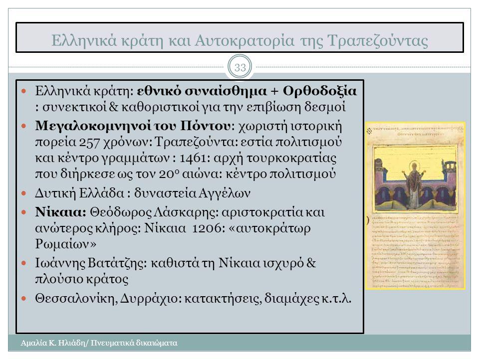 Ελληνικά κράτη και Αυτοκρατορία της Τραπεζούντας