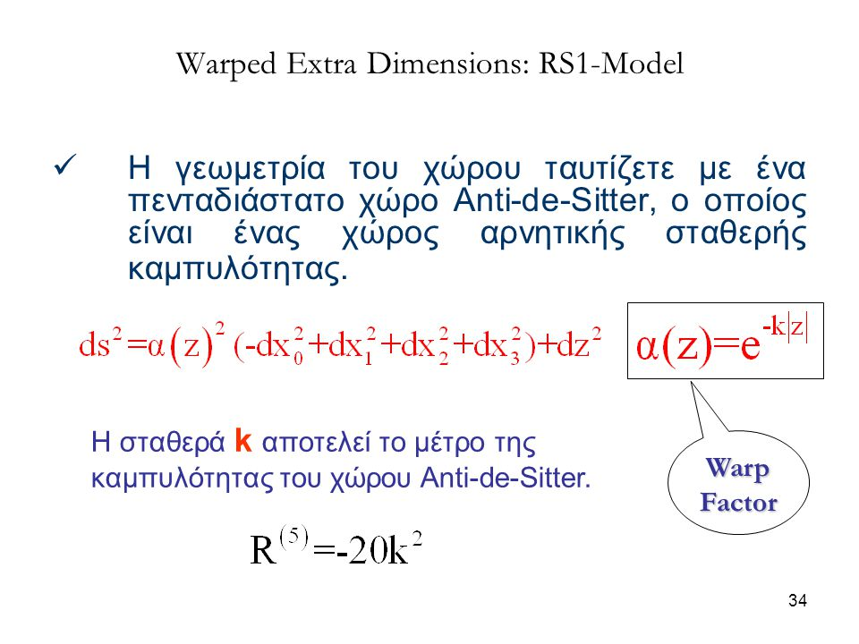 Warped Extra Dimensions: RS1-Model