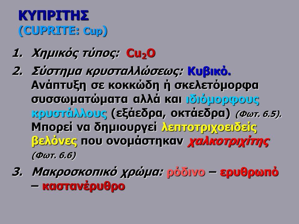 ΚΥΠΡΙΤΗΣ (CUPRITE: Cup)