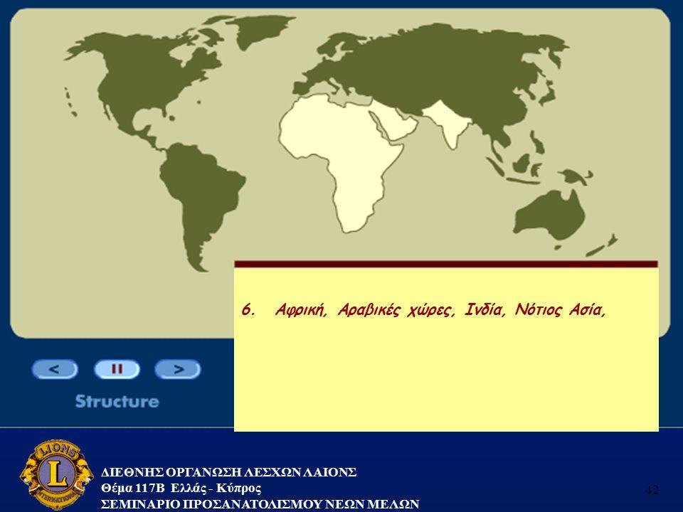 Αφρική, Αραβικές χώρες, Ινδία, Νότιος Ασία,