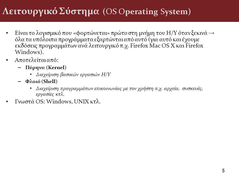 Λειτουργικό Σύστημα (OS Operating System)