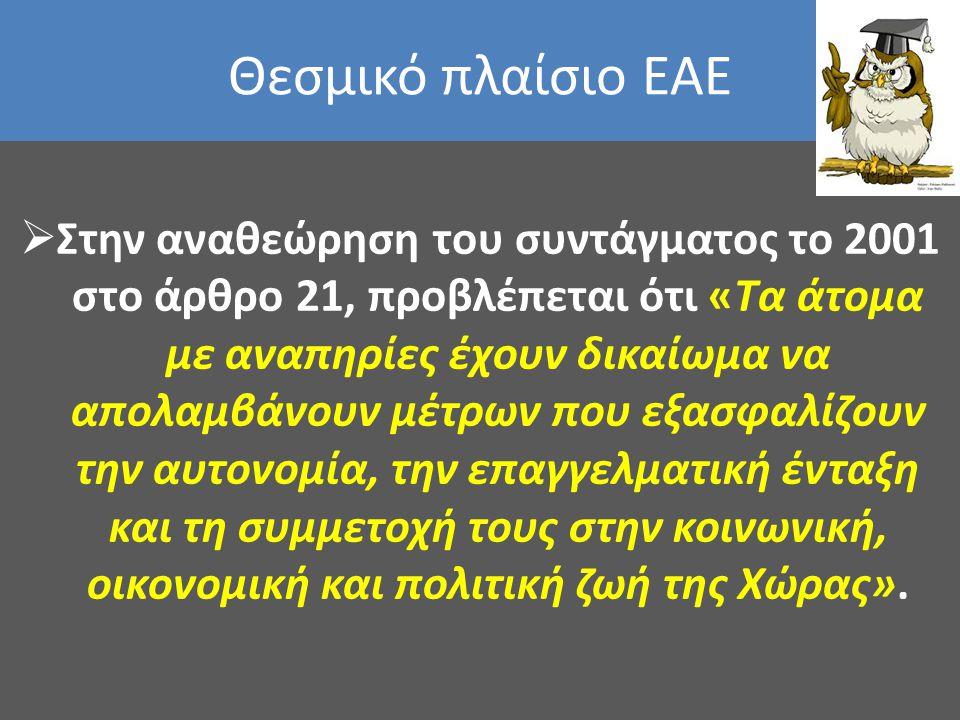 Θεσμικό πλαίσιο ΕΑΕ