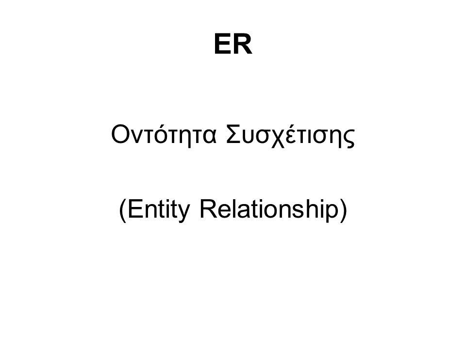 (Entity Relationship)
