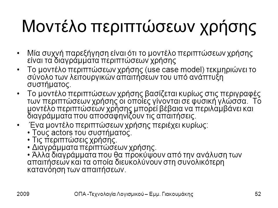Μοντέλο περιπτώσεων χρήσης