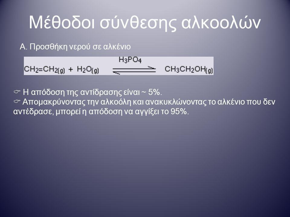 Μέθοδοι σύνθεσης αλκοολών