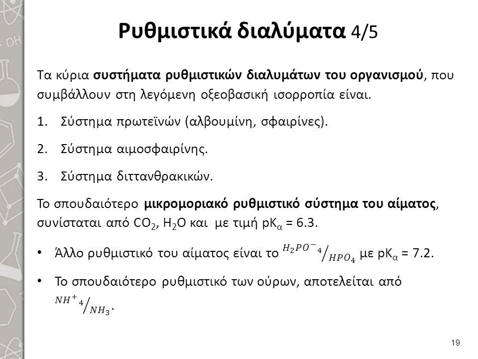 Ρυθμιστικά διαλύματα 5/5