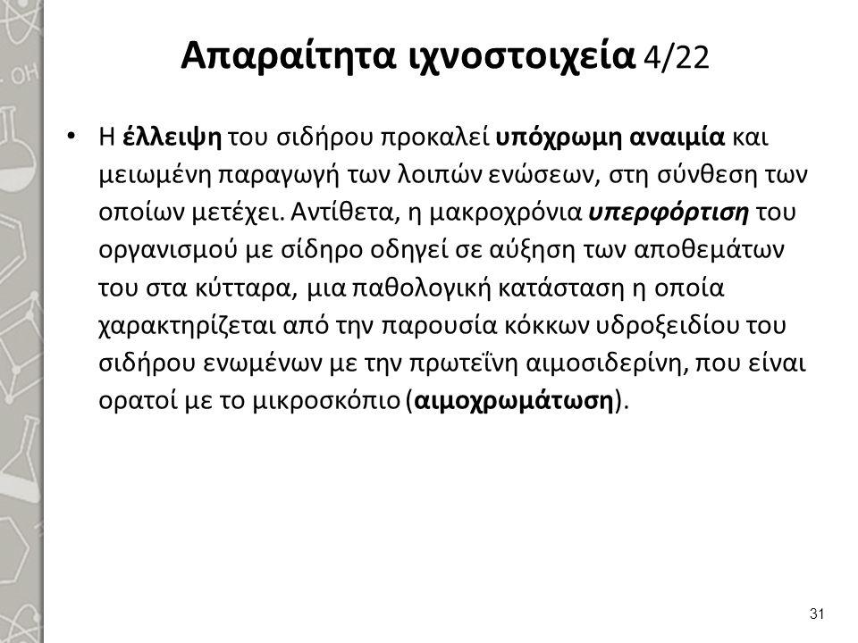 Απαραίτητα ιχνοστοιχεία 5/22