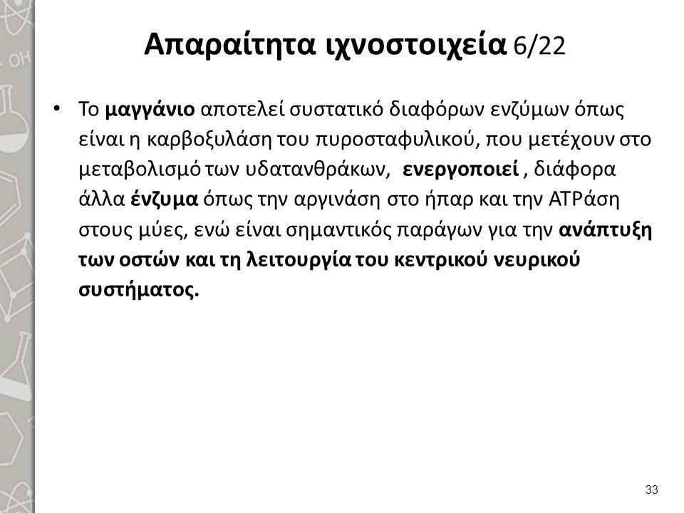 Απαραίτητα ιχνοστοιχεία 7/22