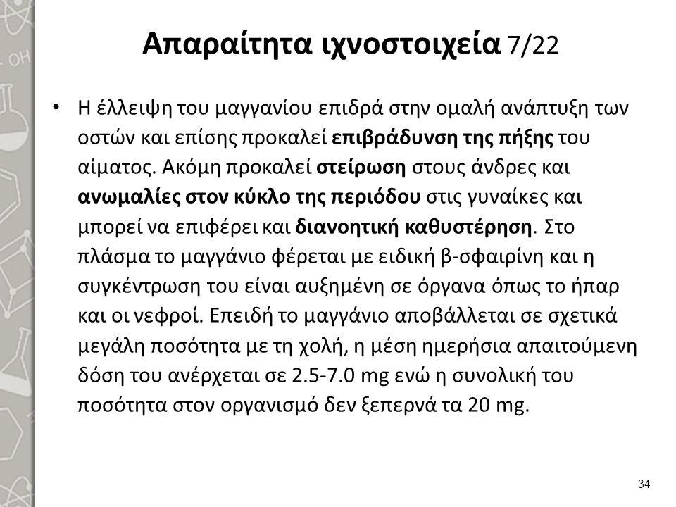 Απαραίτητα ιχνοστοιχεία 8/22