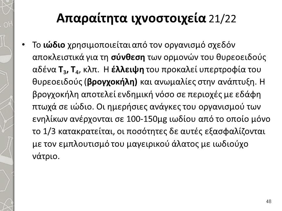 Απαραίτητα ιχνοστοιχεία 22/22