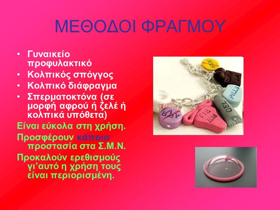 ΜΕΘΟΔΟΙ ΦΡΑΓΜΟΥ Γυναικείο προφυλακτικό Κολπικός σπόγγος