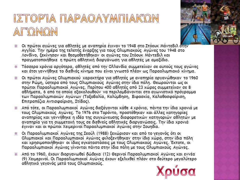 Ιστορία Παραολυμπιακών αγώνων