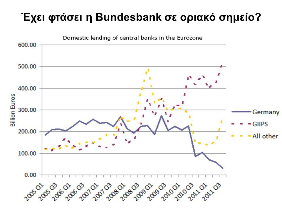 Έχει φτάσει η Bundesbank σε οριακό σημείο