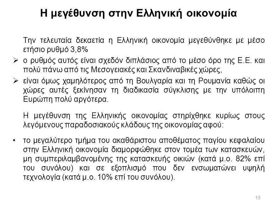 Η μεγέθυνση στην Ελληνική οικονομία