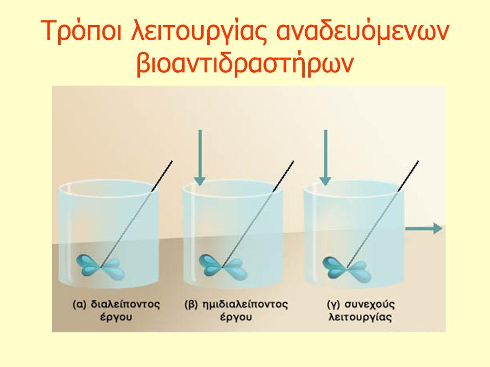 Τρόποι λειτουργίας αναδευόμενων βιοαντιδραστήρων