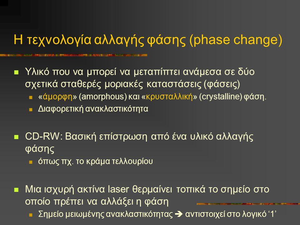 Η τεχνολογία αλλαγής φάσης (phase change)