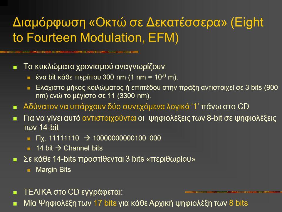 Διαμόρφωση «Οκτώ σε Δεκατέσσερα» (Eight to Fourteen Modulation, EFM)
