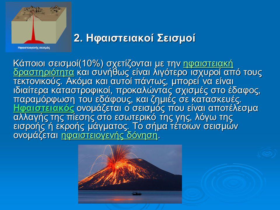 2. Ηφαιστειακοί Σεισμοί