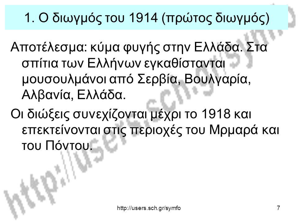 1. Ο διωγμός του 1914 (πρώτος διωγμός)