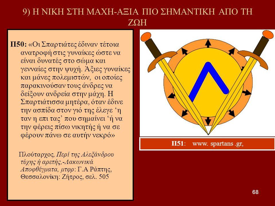 9) Η ΝΙΚΗ ΣΤΗ ΜΑΧΗ-ΑΞΙΑ ΠΙΟ ΣΗΜΑΝΤΙΚΗ ΑΠΟ ΤΗ ΖΩΗ
