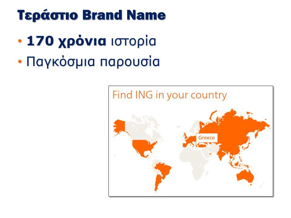 Τεράστιο Brand Name 170 χρόνια ιστορία Παγκόσμια παρουσία