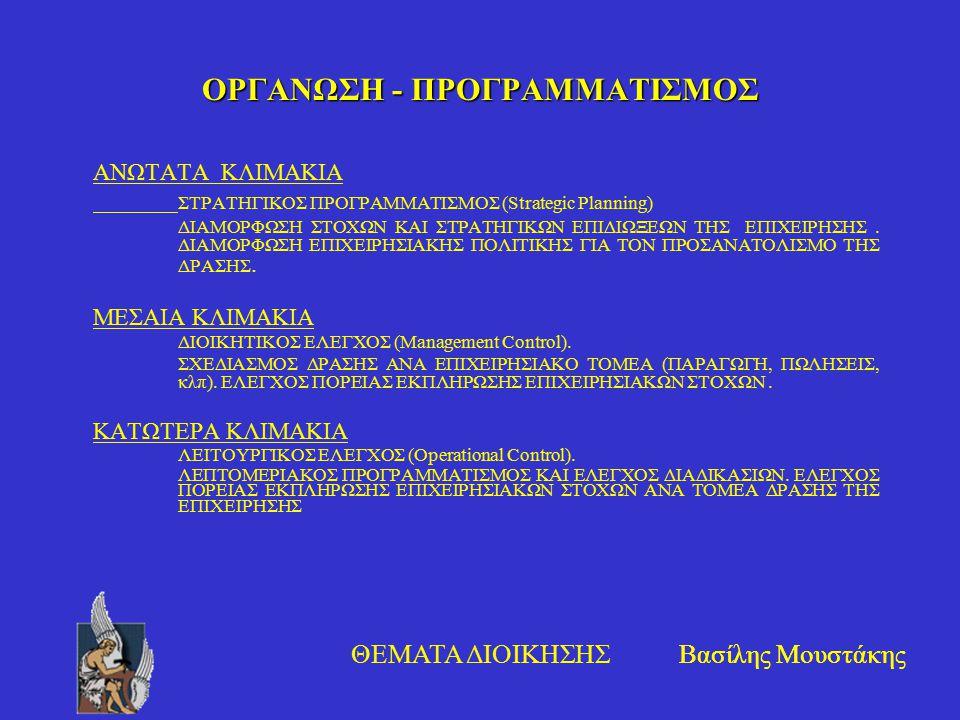 ΟΡΓΑΝΩΣΗ - ΠΡΟΓΡΑΜΜΑΤΙΣΜΟΣ