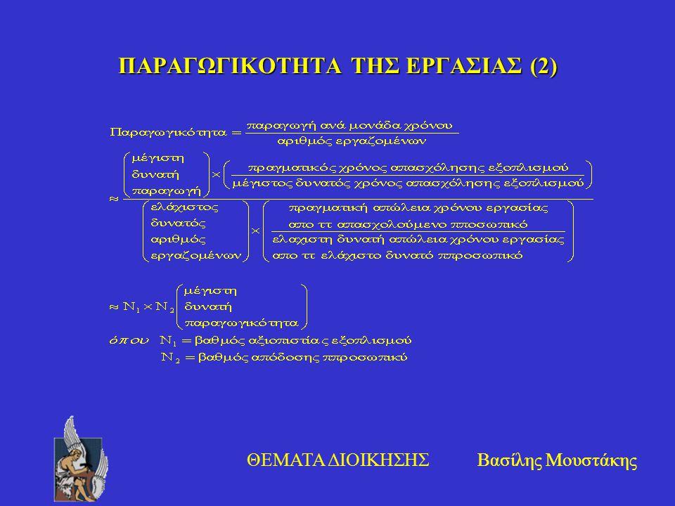 ΠΑΡΑΓΩΓΙΚΟΤΗΤΑ ΤΗΣ ΕΡΓΑΣΙΑΣ (2)