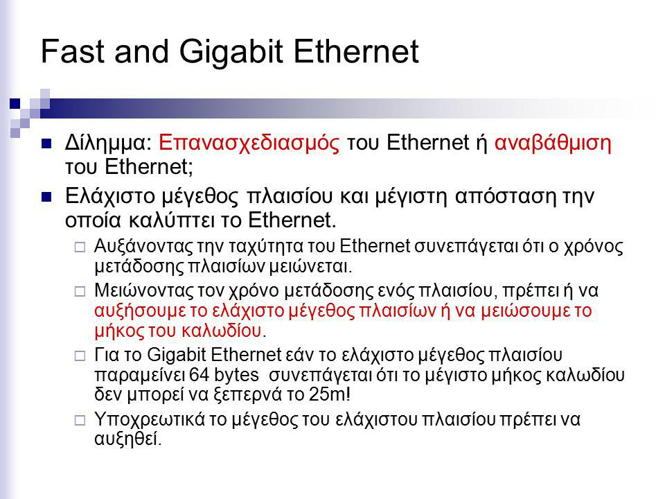 Fast and Gigabit Ethernet