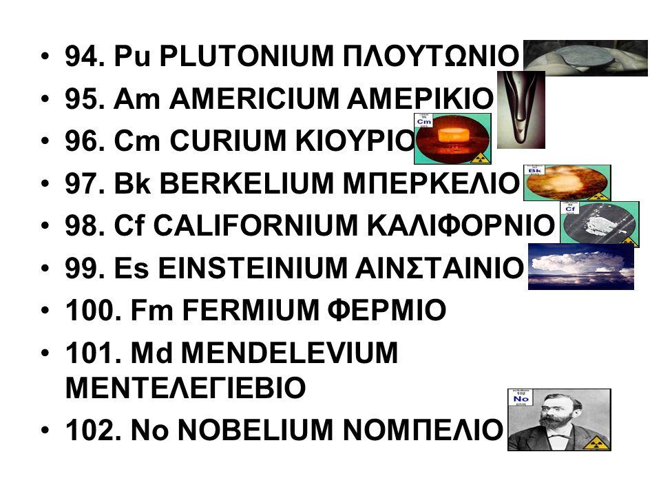 94. Pu PLUTONIUM ΠΛΟΥΤΩΝΙΟ