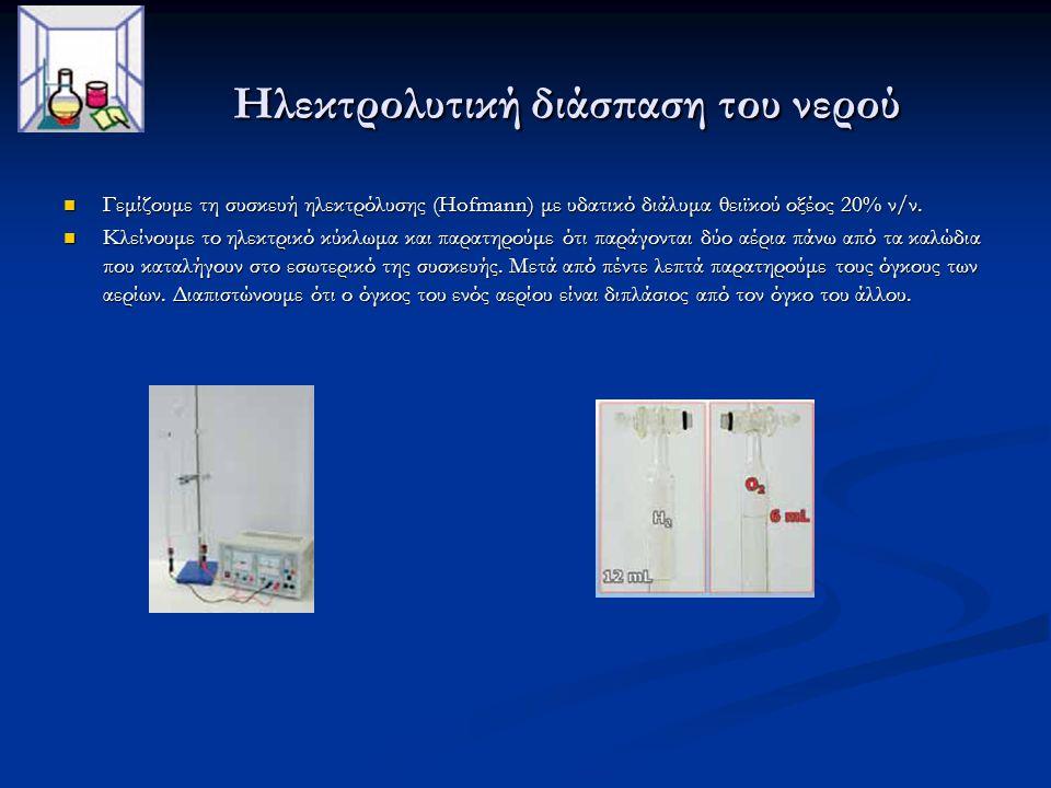 Ηλεκτρολυτική διάσπαση του νερού