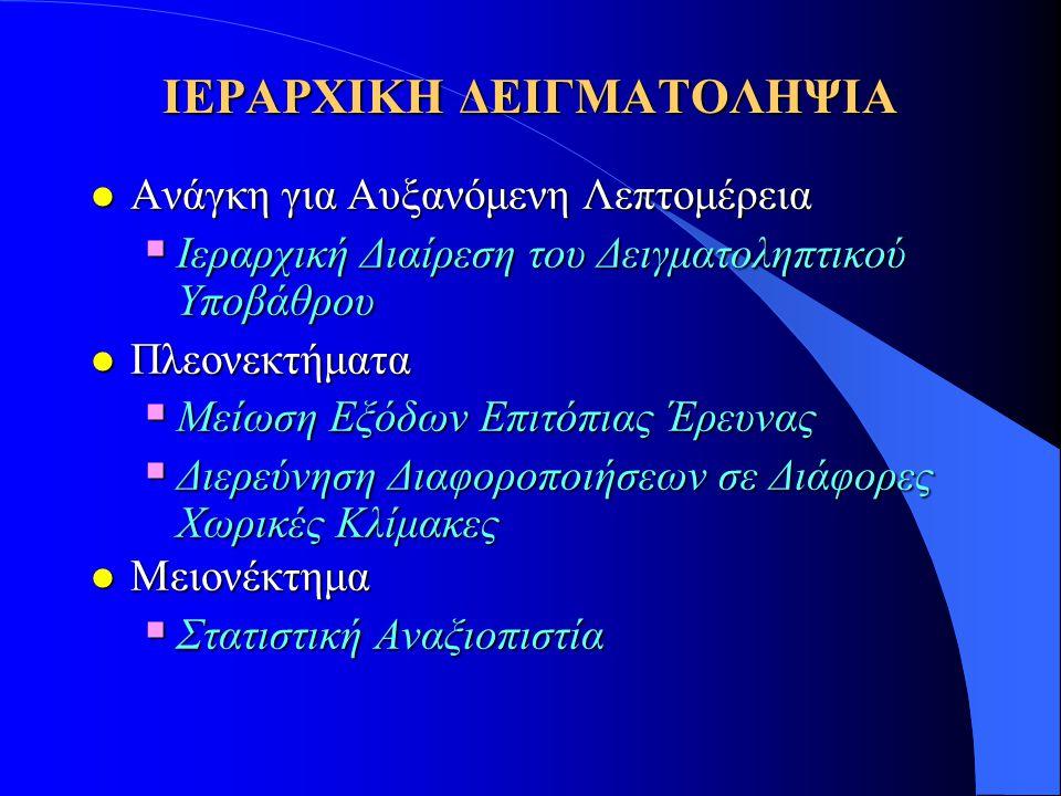 ΙΕΡΑΡΧΙΚΗ ΔΕΙΓΜΑΤΟΛΗΨΙΑ